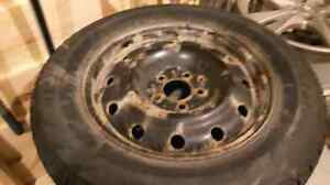 Blizzard Snow Tires/with 5 bolt steel rims Stratford Kitchener Area image 3