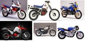 motos anciennes, défectueuses, accidentés,
