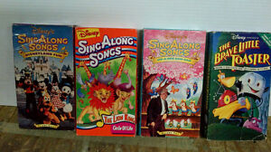 Kids VHS tapes and Music cassettes