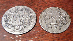German Prussia 24 and 48/ thaler silver coins from XVIII century