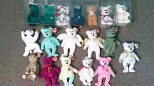 REDUCED! Beanie Babies Lot of 17, Some Very Rare! Cambridge Kitchener Area image 1