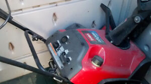 Toro single stage snow thrower with gas engine, electric start