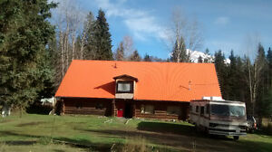 Large Log Home Available in Rural Prince George