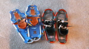 Like New snowshoes for kids 2 pairs