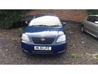 TOYOTA COROLLA T3 VVTI AUTO 3DR HATCHBACK *SAME FAMILY OWNER FROM BRAND NEW *LONG MOT TILL MAY 2017