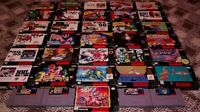 Lots of SNES games/boxes/manuals for sale!