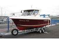 Arvor 230as fishing boat and trailer