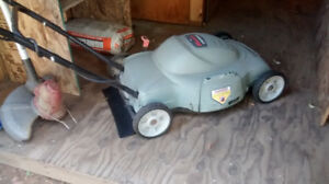 electric lawn mowers/weed wacker for sale