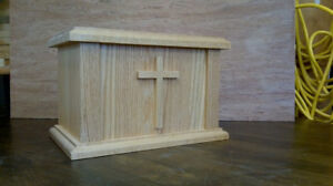 Cremation Urns, maple or oak $100.00