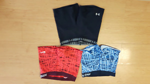 Ladies Nike and Underarmor Workout Shorts