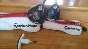 LH Taylormade R15 Driver and 3 wood