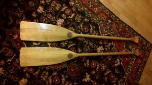 Paddles for canoe