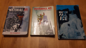 Selection of ice climbing guidebooks