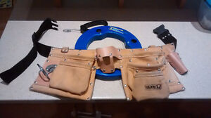 100' Electrical Fish Tape and Leather Tool Belt - $25
