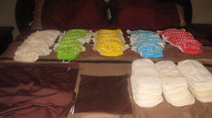 Bamboo Cloth Diapers, Bamboo Liners, Wet Bag, and Pail Liner