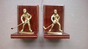 Hockey  Player Bookends