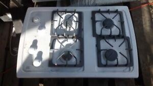 Propane stove top / light hood