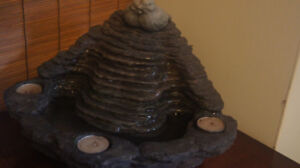 Water Fountain with electric pump with rock feng shui garden