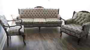 Antique  3 piece living room set