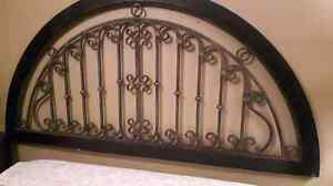 Iron and Wood headboard