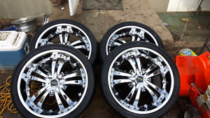 Tezsen 22inch Chrome rims and Hankook Tires