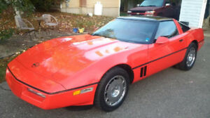 1984 Red C4 Corvette Targa Top, Standard 4+3 Transmission