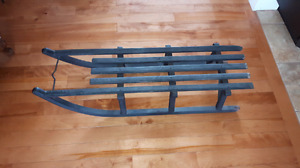 Antique wooden hand-crafted sled