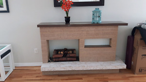 Plug in fireplace. Decorative accent piece