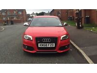 FACELIFT AUDI S3 RED CHEAPEST IN UK HPI CLEAR PX SWAP RS3 RS4 RS6