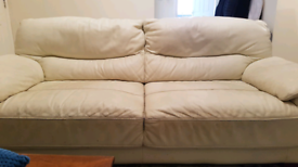 2 x Used 3 Seater DFS Leather Sofas