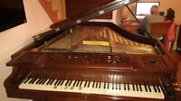 Brazilian rosewood Chickering Parlour Piano
