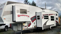 Forest River Sandstorm 40ft Tridem 5th wheel toy hauler