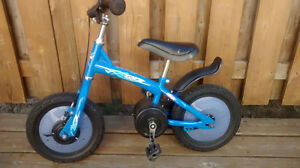 Boys Blue Glider Bike in Excellent Condition