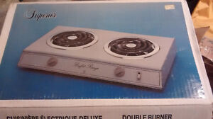 New double burner stove electric camping