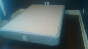 Used full size box spring and rails