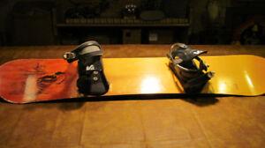 Vintage Reaper Anthem Snowboard 159 with bindings NICE !!!