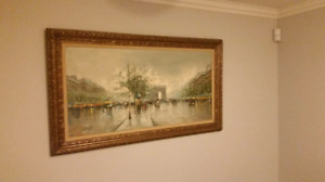 Original oil painting from Paris - passed down 3 gen