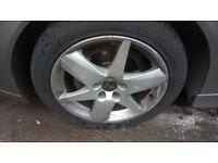 """17"""" Saab / Vauxhall Alloy Wheels Tyres x4"""