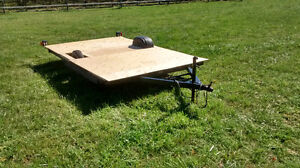Utility Flat Deck Trailer 7x11.5 with jack, new light ATV, sleds