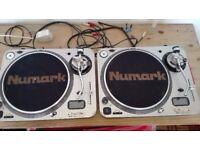 Numark Pro TT2 Turntables Pair + Numark DM1002 Mk2 Mixer