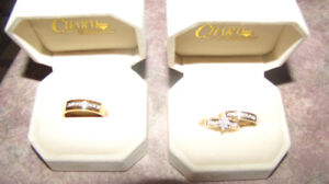 Engagement and Wedding ring set from Charm