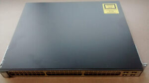Cisco 3750 48PS-S switch, 48 Fast Ethernet ports PoE-Fairly used