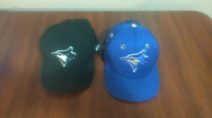 Kids fitted Blue Jays baseball hats