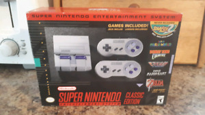 Super Nintendo Classic System With 2 Controllers And 20 Games!