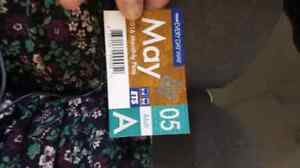 May bus pass need gone asap