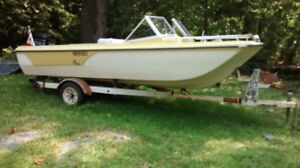 Duo Boat with trailer (tilt)16ft