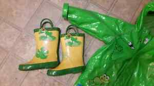 18-24 month TCP raincoat and size 7 rain boots London Ontario image 3