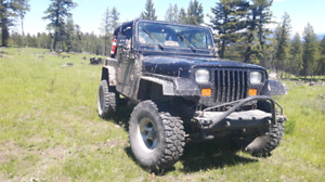 1995 Jeep Wrangler YJ w/ new front end, lift + custom sides