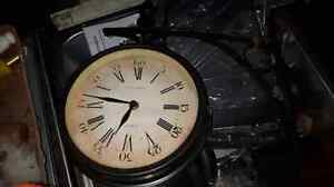 Vintage double sided clock wall mount