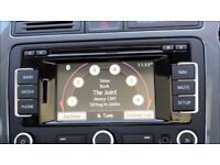 Genuine VW RNS310 Sat Nav SD Card Stereo CD Player 510 315 Golf Caddy T5 GTI R32 Skoda Passat Leon